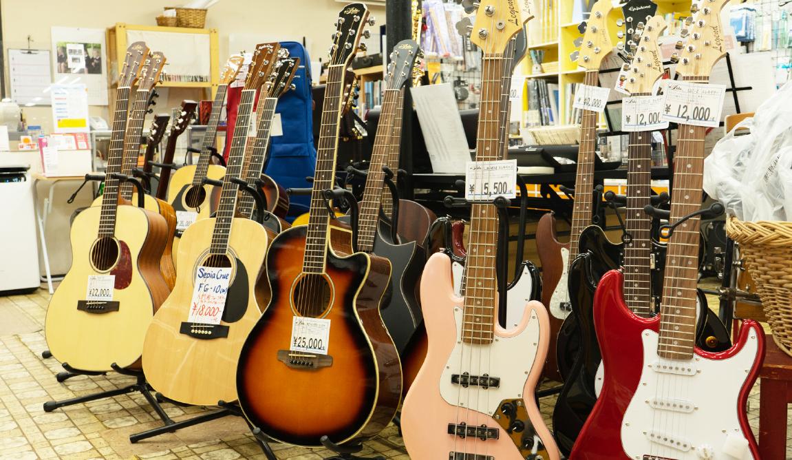 新品・中古の楽器販売だけでなく、修理やお手入れ方法、お気軽におたずねください。